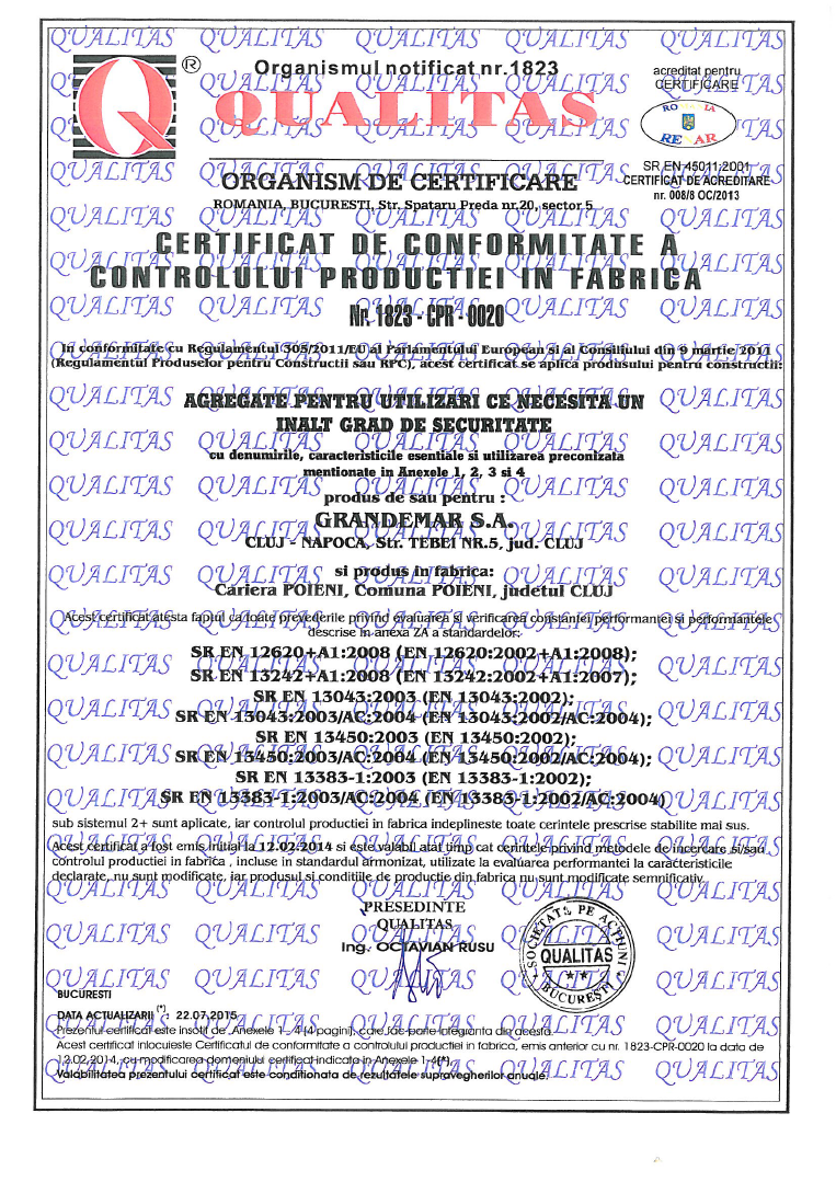 Grandemar certifications and authorizations poieni quarry 1betcityfo Images